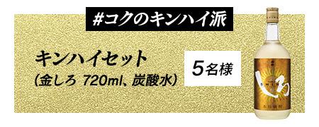 キンハイセット(ボトル、炭酸) 5名様